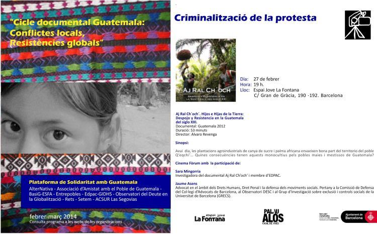 Tarjetó - Criminalització de la protesta